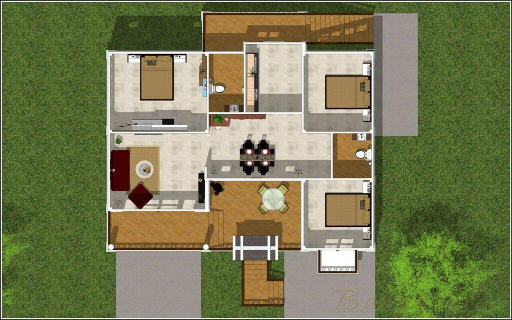 แบบบ้านใต้ถุนสูงไทยประยุกต์ 3ห้องนอน