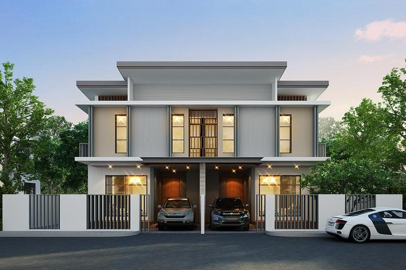 2 storey detached house modern